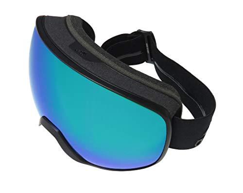 Adidas Ad83/50 Progressor Pro Pack Mens/Womens Goggles 100% UVA & UVB Lenses Sport Sunglasses (0-0-0, Black Matte)
