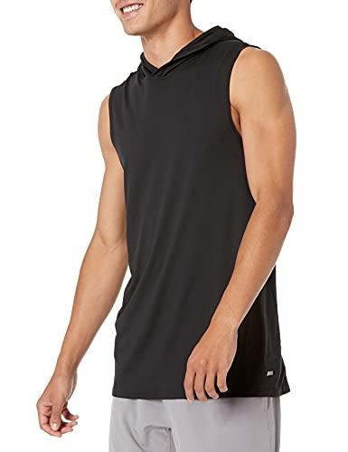Amazon Essentials Men's Tech Stretch Sleeveless Performance Hoodie, Black, XX-Large