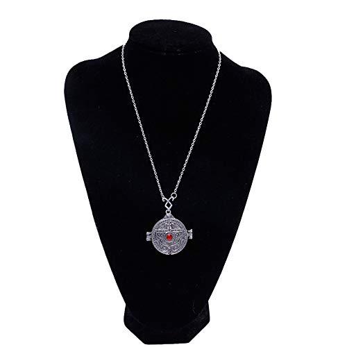 niumanery The Mortal Instruments Stadt der Knochen Portal Tür Anhänger Kette Halskette Silber