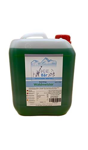 ICE BÄR Slush Sirup 12 fruchtige Sorten 5 Liter Konzentrat | Geschmack Waldmeister | Slushy Maker Ice für Eis Maschine zum Selbermachen Getränkesirup