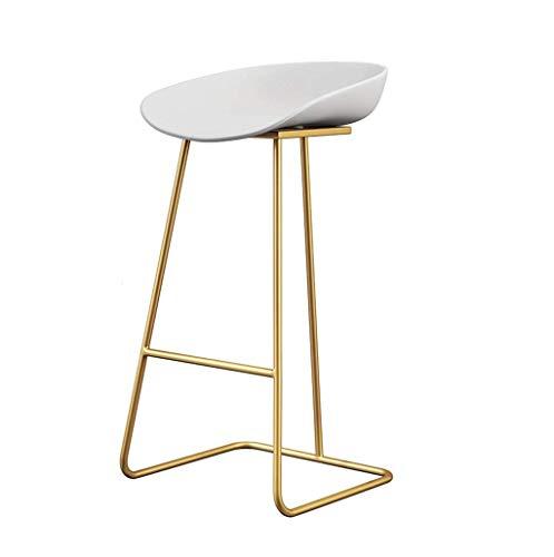 WEHOLY Chaise Fer Tissu PP Chaise en Plastique Dossier Simple Chaise Haute Café Chaise De Loisir Créative Compteur Santé Environnementale (Couleur: D, Taille: H70cm)