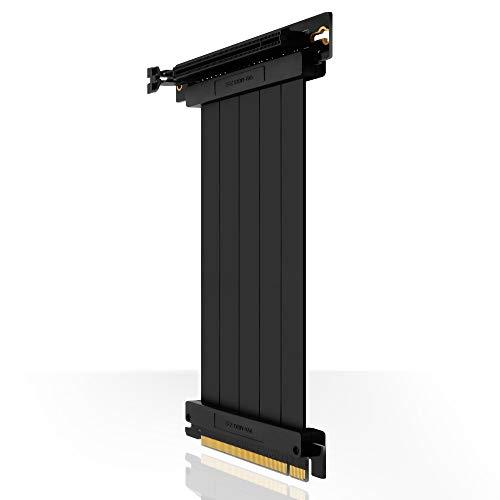 EZDIY-FAB [30cm PCIE 3.0 16x Cable Vertical de Alta Velocidad Extrema Puerto PCI Express Tarjeta de extensión GPU-Conector en ángulo Recto