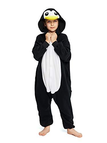 NEWCOSPLAY Unisex Children Penguin Pyjamas Halloween Costume (5) Black