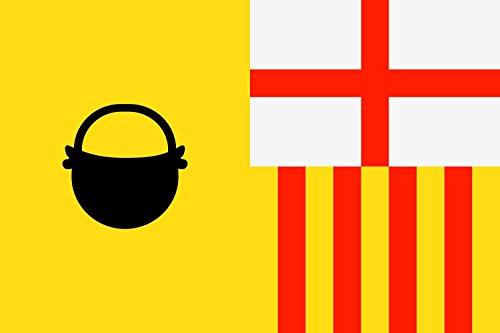magFlags Bandera Large Caldas de Montbui, Barcelona, España | Bandera Paisaje | 1.35m² | 90x150cm