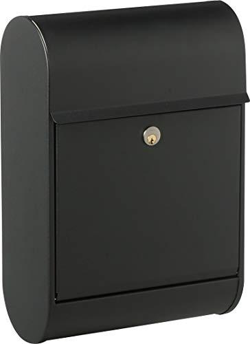 Allux 8900 F60894 brievenbus groot, zwart, 500 x 350 x 160 mm