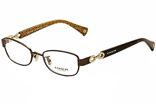 Coach Women's HC5054 Eyeglasses Satin Brn/Dark Tort Gold Sig C 49mm