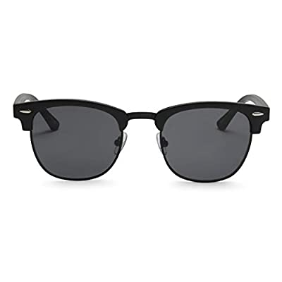 ADE Clubmaster Sunglasses for Men - Stylish Semi Rimless Club Master Glasses with UV Sun Protection