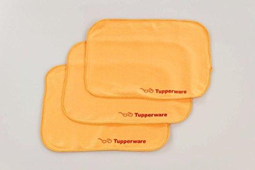 TUPPERWARE FaserPro Durchblick T18 Brillenputztuch Putztuch Brille Handy orange (3) 29741