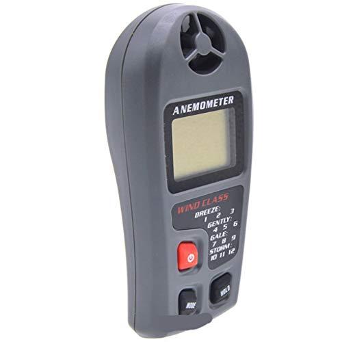 XQAQX Anemómetro Medidor de Velocidad Viento Aire Flujo de Aire medidor de Viento de Velocidad LCD termómetro Medición Medición for Maquinaria de construcción, Meteorología, Agricultura