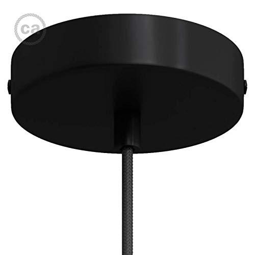 creative cables Zylindrischer Lampenbaldachin Kit aus Metall - Zylindrisch, Schwarz