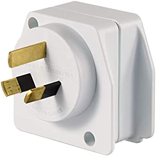 Qantas - Visitor to AU/NZ Travel Adaptor - White