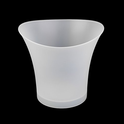 Impermeable Plástico LED Cubo de Hielo Luminious Cool KTV Bar Noche Fiesta Práctica Cocina Gadget 5L