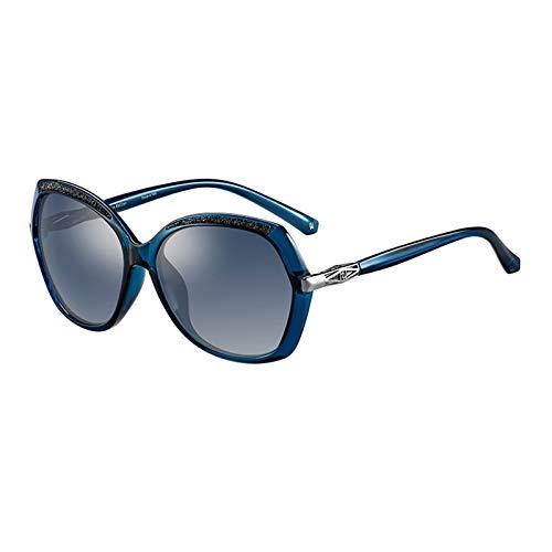 Damenmode Sonnenbrille, Tac Polarisierte Brille, SchmetterlingsföRmiger Rahmen, Verziert Mit Kleinen Diamanten, öL- Und Schmutzabweisend, Geeignet Zum Fahren, Reisen, Wandern,A