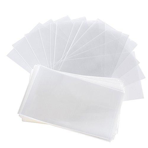 AONER 200 STK OPP Tütchen (ca. 8 x 11,5 cm) Plastiktüten klein Flachbeutel transparent Beutel Plätzchen Gebäck Tüten Süßigkeiten Geschenk Verpackung für Schocolade Lutscher