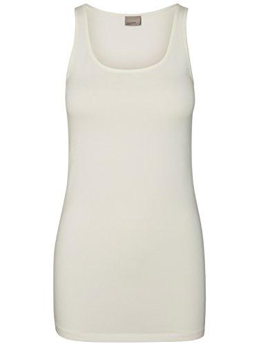 VERO MODA Damen VMMAXI My Soft Long Tank NOOS Top, Weiß (Snow White), 36 (Herstellergröße: S)