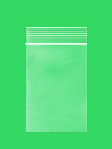 Clear Plastic Reusable ZIPLOCK Bags – Bulk GPI Pack of 100 1.5″ x 2″ 2 mil Thick Strong & Durable Poly Baggies with Resealable Zip Top Lock for Travel, Storage, Packaging & Shipping.