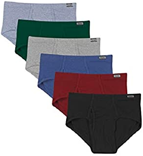 Hanes Men's 6-Pack Tagless No Ride Up Briefs with ComfortSoft Waistband