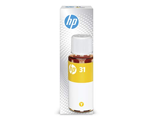HP 31 | Ink Bottle | Yellow |Up to 8,000 pages per bottle|Works with HP Smart Tank Plus 651 and HP Smart Tank Plus 551 | 1VU28AN