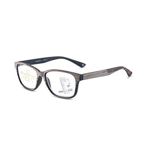 YBDd Z@Eye Lesebrille Männer Frauen Holz Presbyopic Brillen Mode Sehbrillen Dioptrien Oculos +1 +1,5 +2 +2,5 +3 +3,5 7.13 (Color : Black, Size : +150)