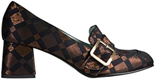 PAOLA DARCANO Damen Loafer mit Stoffüberzug Glänzend