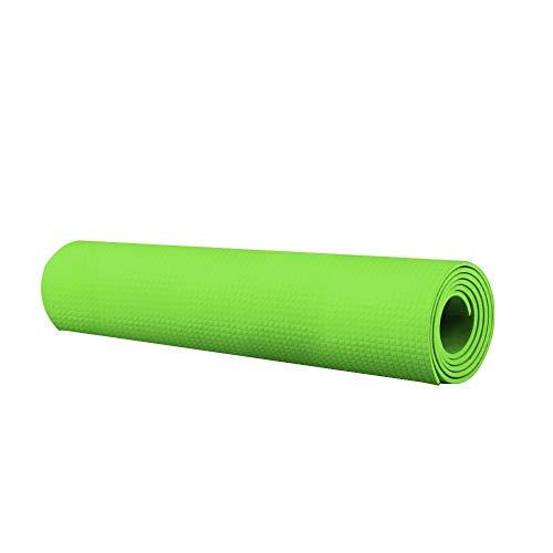 Andouy Pilatesmatte, Gymnastikmatte, Yogamatten, Hautfreundliche Fitnessmatte, Phthalatfrei, 173X55X0.4CM, Yoga Matte in 7 unterschiedlichen Farben(173X55X0.4CM.Grün)