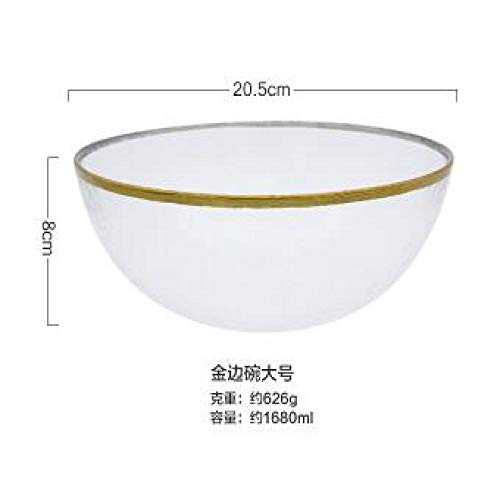 Teller Gold Rim Geschirr Glasschalen Für Reis/Salat/Nudeln C.
