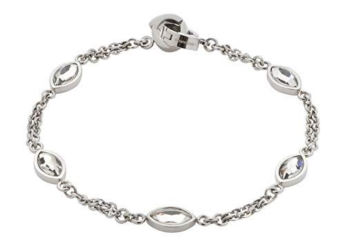 Jewels by Leonardo DARLIN'S Damen-Armband Leonita, Edelstahl mit facettierten Glas-Blättchen, Clip & Mix System, Länge 190 mm, 016839