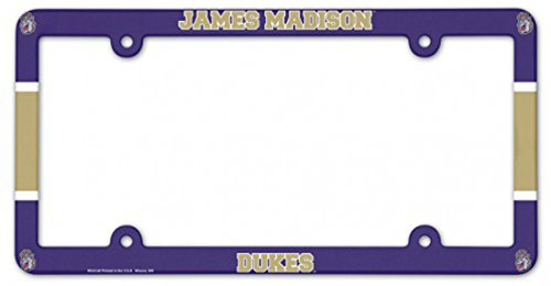 WinCraft NCAA James Madison JMU Dukes Plastic License Plate Frame