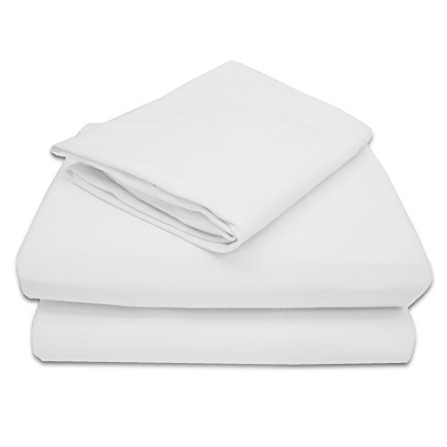 American Baby Company 100% Cotton Jersey Knit Toddler Sheet Set, White