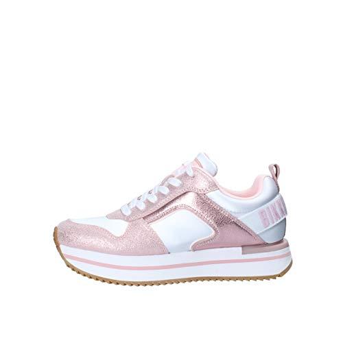 Bikkembergs Damen-Schuhe Art B4BKW0057 White Pink Farbe Foto Größe wählbar, Pink - Pink - Größe: 40 EU