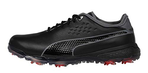 PUMA Men's Proadapt Delta Golf Shoe, Black-Quiet Shade, 12