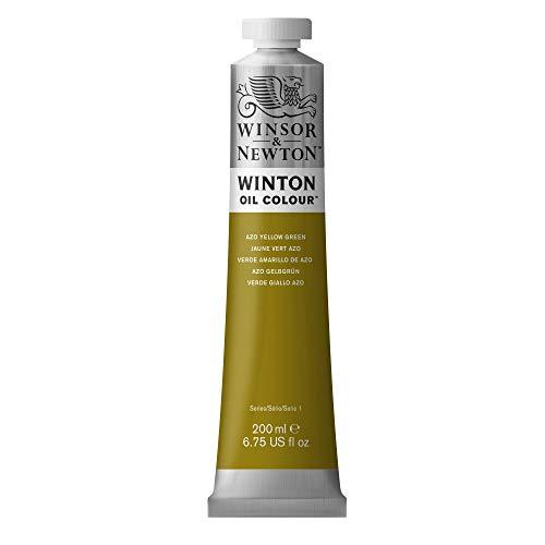 Winsor & Newton Winton Oil Color Paint, 200-ml Tube, Azo Yellow Green