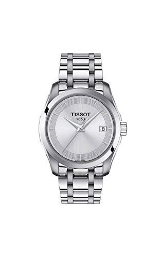 Tissot Damen-Uhren Analog Quarz One Size Edelstahl 87645142