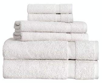 SALBAKOS Cambridge Ultra Luxury Hotel Collection & Spa Bath Towels Turkish Cotton Bath Towels Made in Turkey 700gsm Eco-Friendly Bulk Save (6 Piece Set, Ivory)