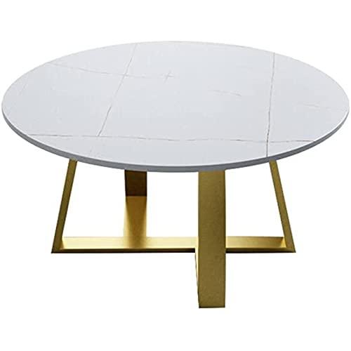 Mesa auxiliar del sofá, Mesas de café Mesa de café Tablero de metal Tabla de té Mesa de cóctel de mesa, usado para dormitorio Sala de estar Oficina Mesa de café industrial Mesas de mesa de mesa (Color