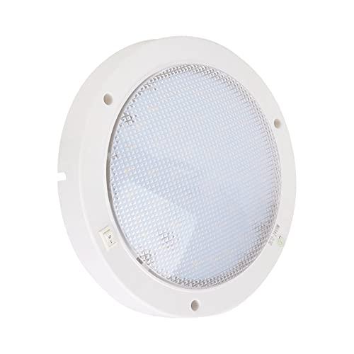 Panel de luz LED, luz de panel LED redonda de bajo consumo de energía de 12 V y 300 lm de rendimiento estable para yates, barcos, etc.(Blanco cálido)