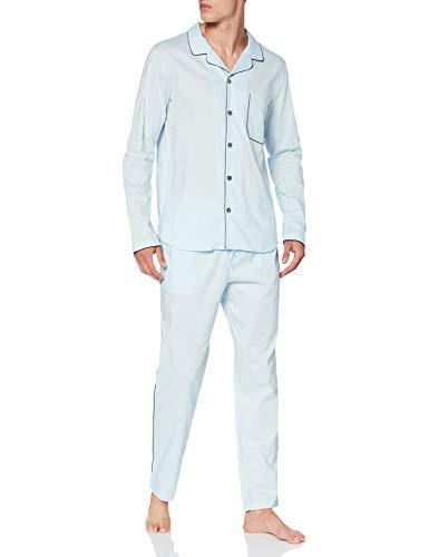 Seidensticker Herren Men Pyjama Long Pyjamaset, hellblau, 052