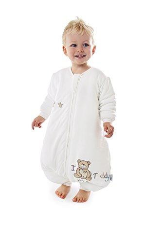 Sacco Nanna in Bambù Slumbersac Invernale con Piedini circa 3.5 Tog - I Love Teddy - 18-24 mesi
