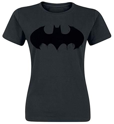Batman Logo Frauen T-Shirt schwarz L 100% Baumwolle DC Comics, Fan-Merch, Film, Superhelden