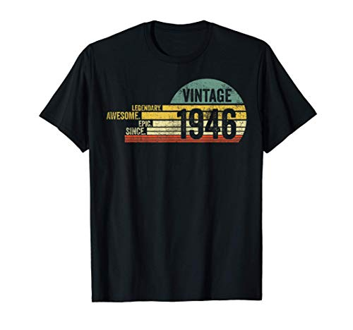 Legendary Awesome Epic Since 1946 Retro Shirt