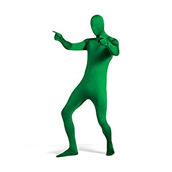 UTEBIT Green Full Bodysuit for 5 5   - 5 9   and within165lbs Men Spandex Suit Stretch Adult Costume Chromakey Disappearing Zentai Man Body Suit Unisex Greenman Suit for Halloween Cosplay Masquerade Carnival