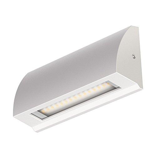 ledscom.de LED Wand-Leuchte Segin Treppenlicht für innen und außen, flach, Aufbau, warm-weiß, 190lm
