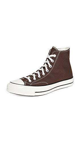 Converse Men's Chuck 70 High Sneakers, Dark Root/Black/Egret, 13 Medium US