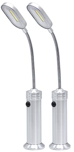 LED Concepts BBQ Grill Lights Magnetic Base Super-Bright LED Lights-360 Degree Flexible Gooseneck, Weather Resistant, Task Lighting Barbecue Grilling, Works (2 Pack)