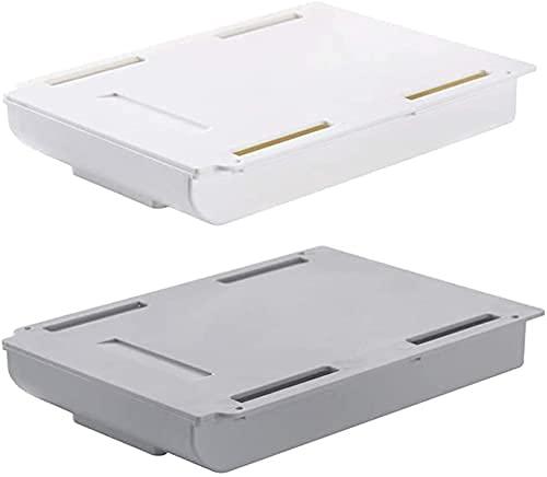 2 Unidades de Caja de Almacenamiento de cajones Colgantes, Bandeja de lápices de cajones, Autoadhesivo para Organizador Colgante de Oficina en casa