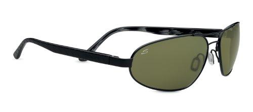 Serengeti Eyewear Sonnenbrille Monza - Telescopio/Prismáticos de caza, color negro satinado, talla M/L