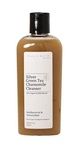 Colloidal Silver Acne Rosacea Soap with Green Tea & Chamomile 80% Organic All Skin Types - VEGAN pH Balanced Maskne