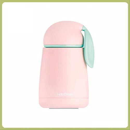 FHFF Thermosbecher Kaninchen Thermobecher Cartoon Tasse Tee Wasser Thermobecher Thermobecher Isolierflasche 300ml Pink 1