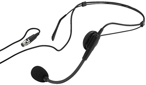 MONACOR IMG Stageline HSE-80 Elektret-Headset-Mikrofon, Schwarz, 233880