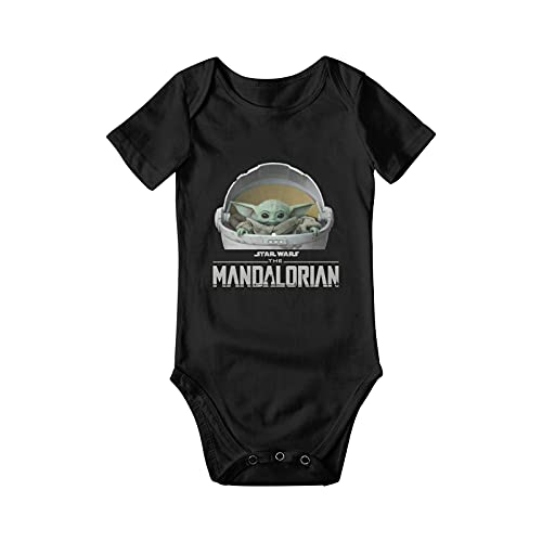 BCQJNB Star Wars The Mandalorian The Child Baby Yoda Baby Jersey Body 100% algodón Camisa infantil Ropa 0-24 meses